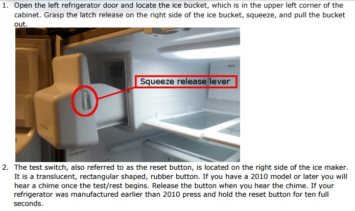 How To Reset The Ice Maker In Samsung French Door